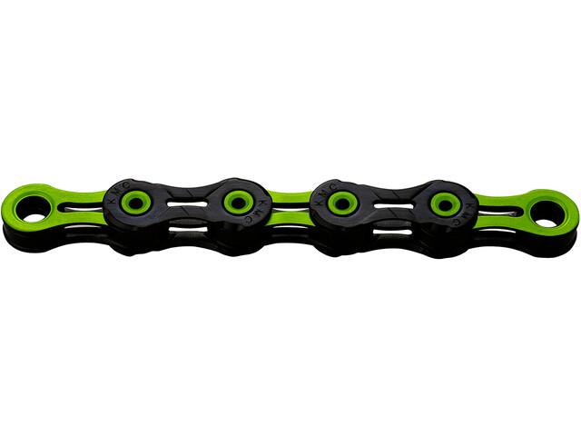 KMC X10 SL DLC Super Light Kette 10-fach schwarz/grün